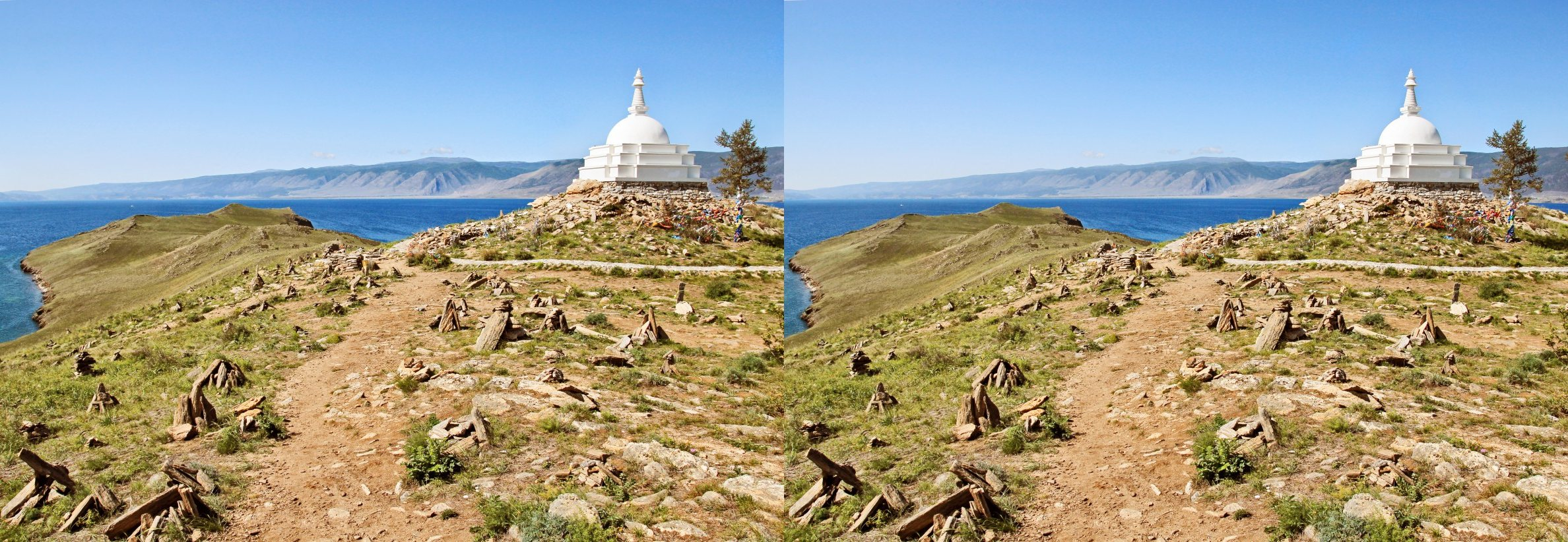 Buddhist stupa on the Ogoy Island