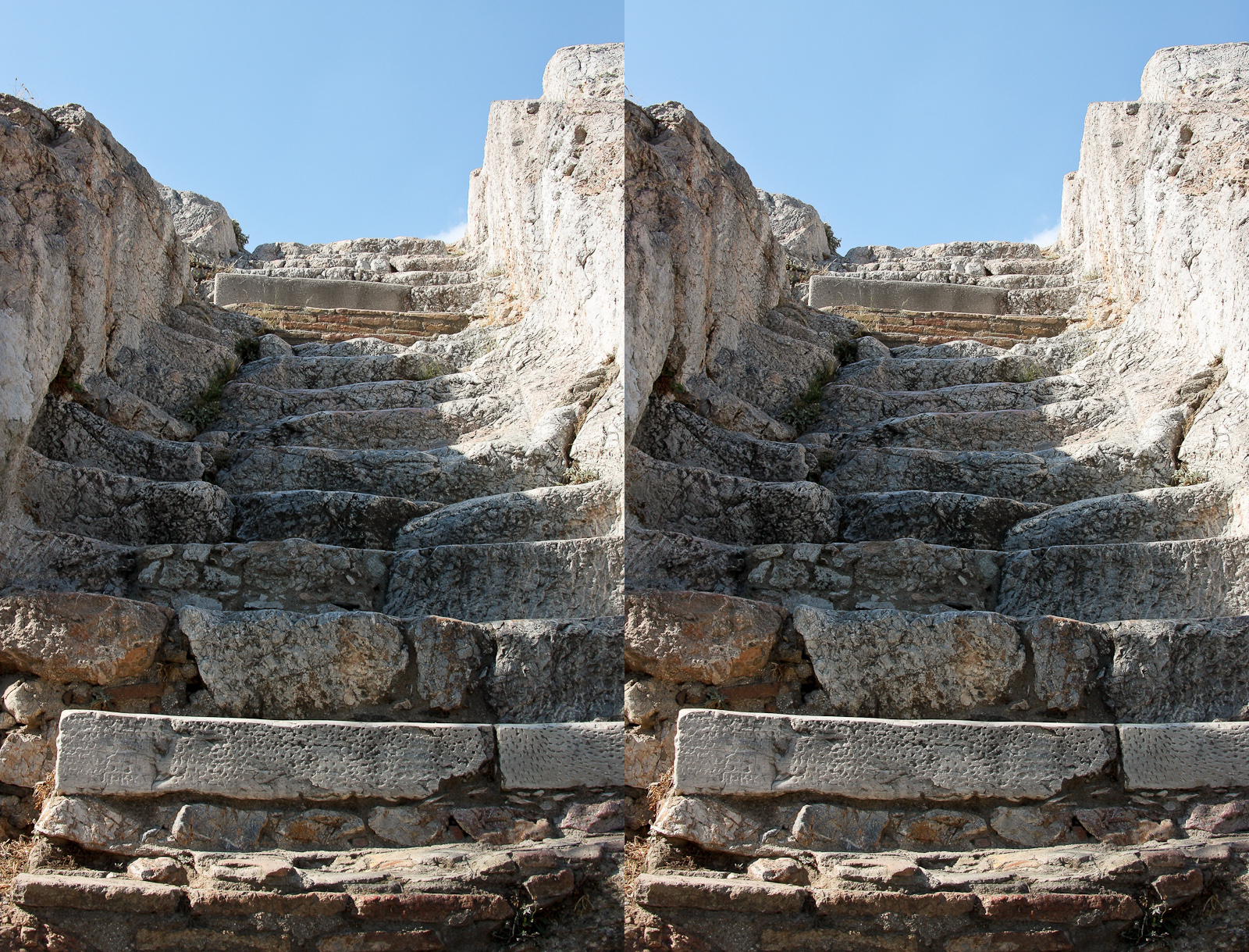 Athens. Stairs to the Acropolis